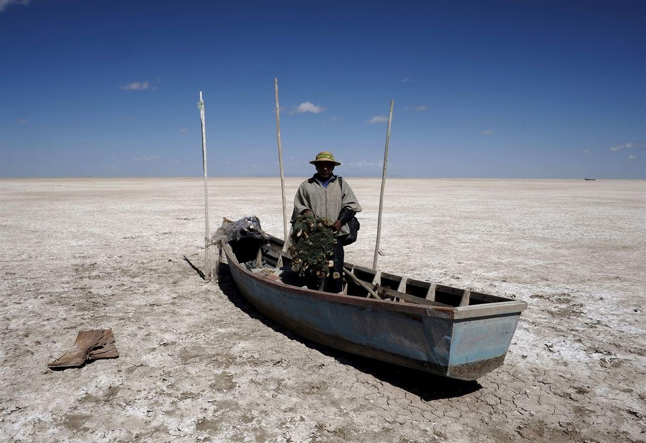 Se secó el lago Poopó en Bolivia