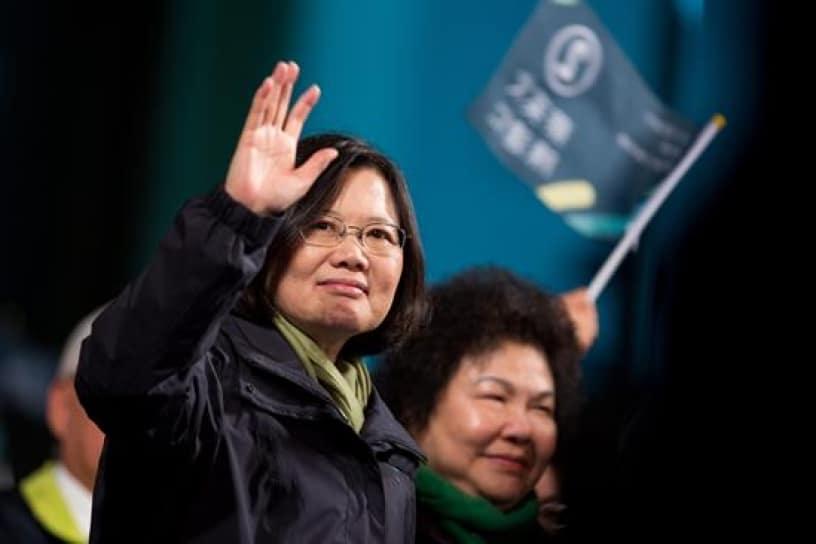 Por primera vez Taiwan elige a una mujer presidenta
