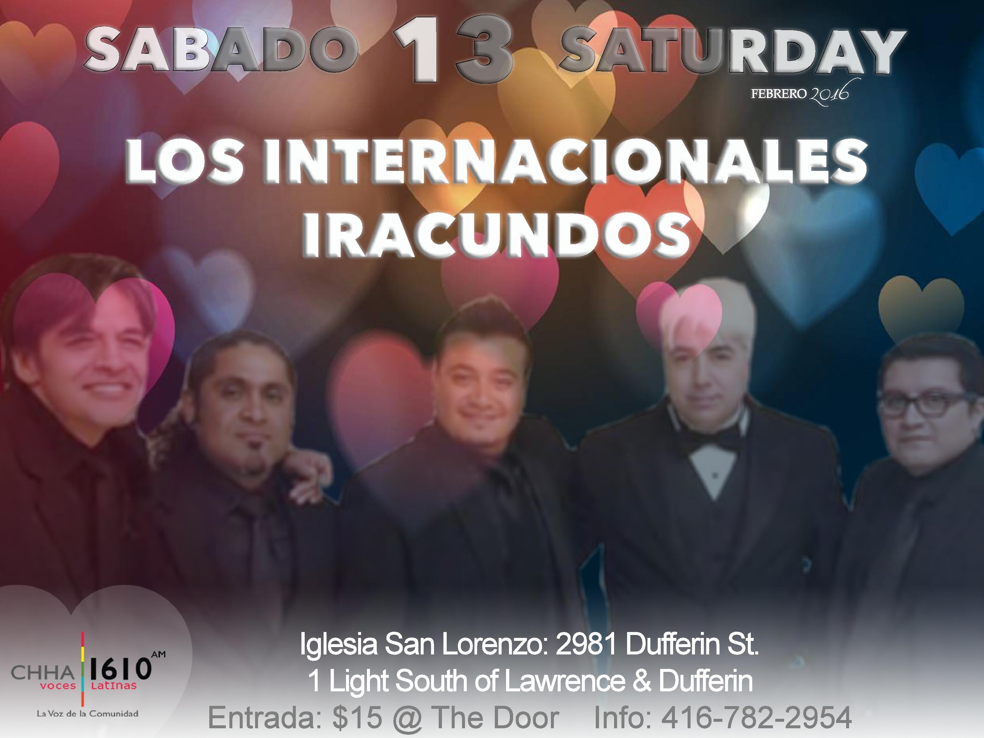Los Internacionales Iracundos Realizan Concierto en Iglesia San Lorenzo