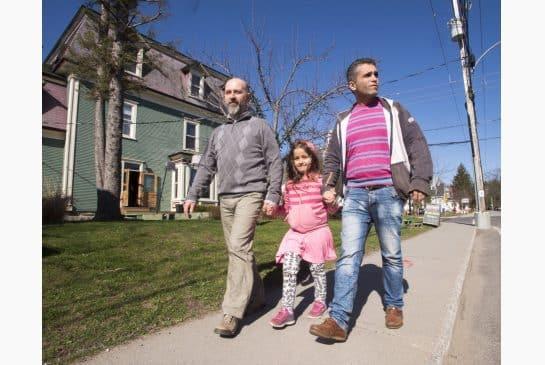 Pequeño pueblo de Quebec, de manera colectiva, patrocina a familia siria