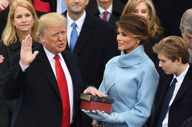 Trump asume la presidencia con discurso alejado de la unidad y manifestaciones en contra