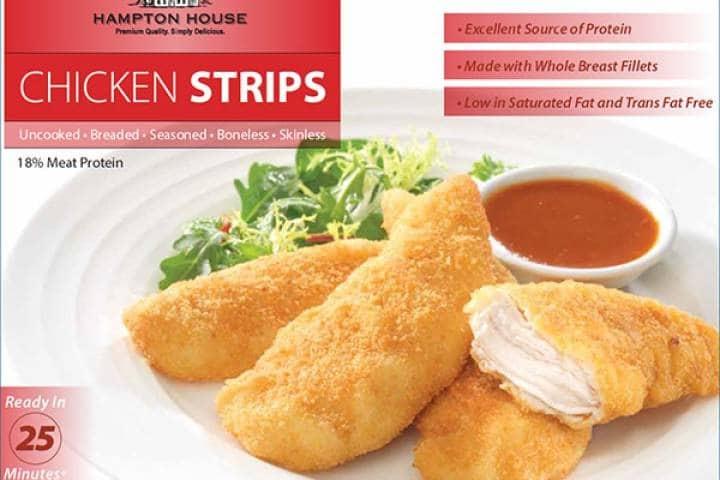 Se retiran cajas de chicken strips Hampton House por posible contaminación en varias provincias