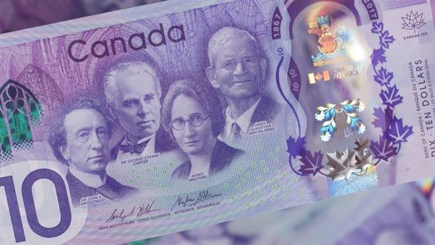 Nuevos billetes de $10 Conmemoran los 150 años de Canadá