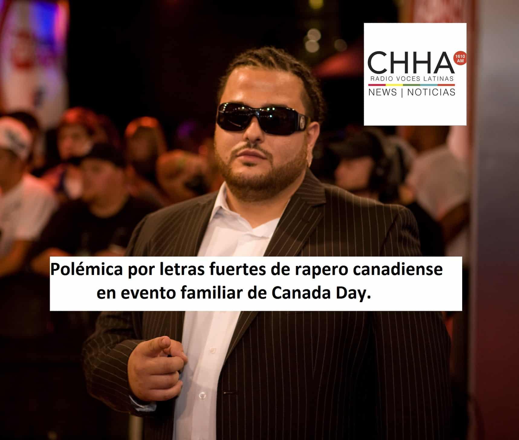 Polémica por letras fuertes de rapero canadiense en evento familiar de Canada Day