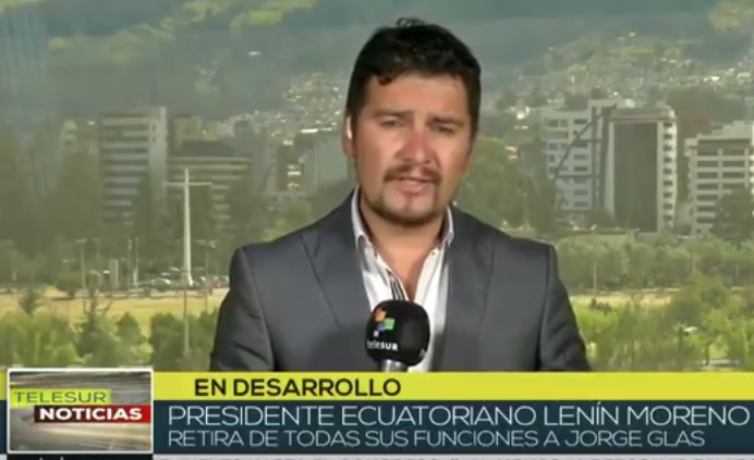 [TELESUR] Ecuador: retira Lenin Moreno funciones de vicepresidente a Jorge Glas