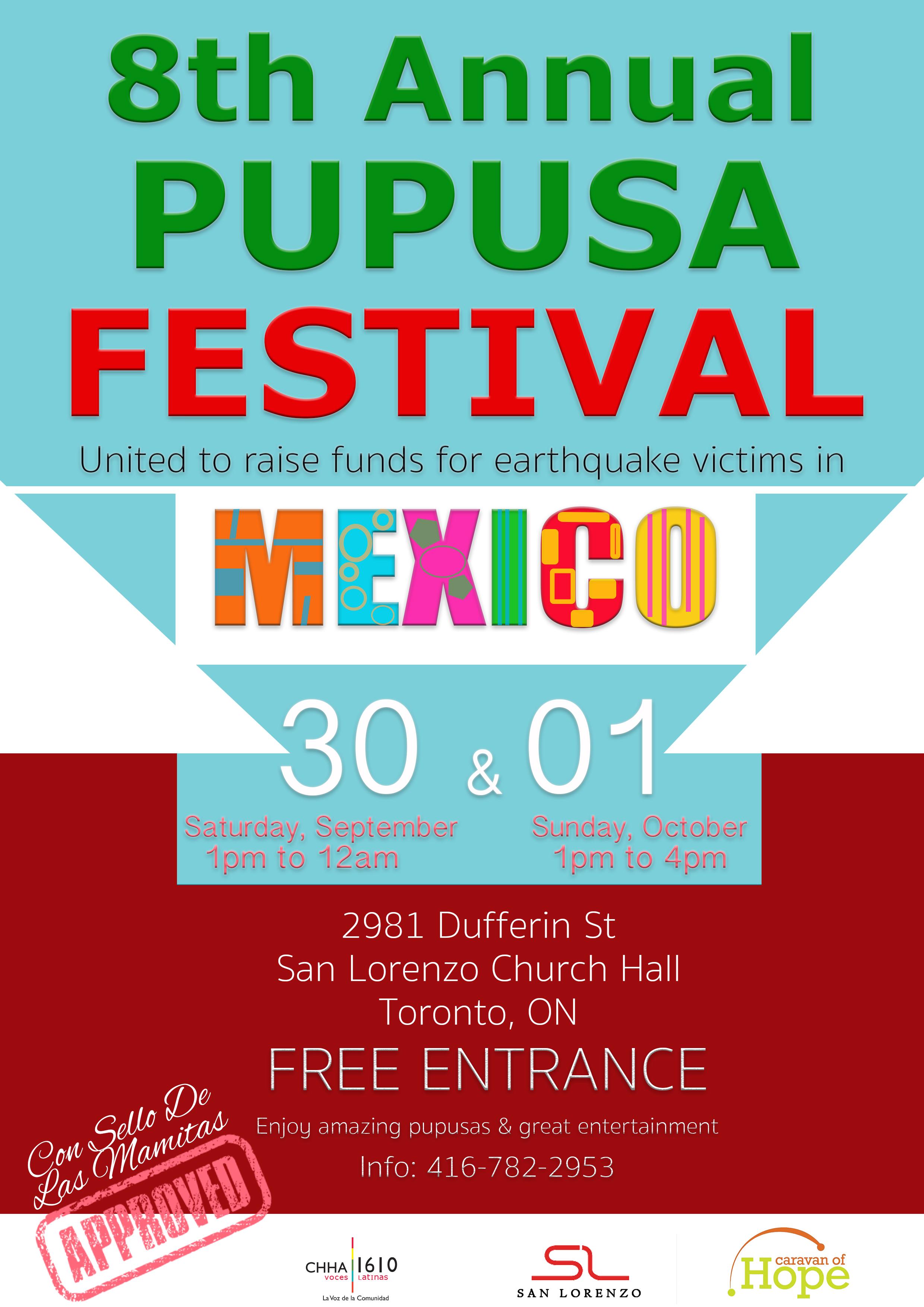 Festival de la Pupusa 2017 se realiza en solidaridad con México