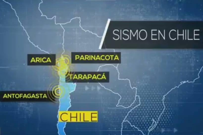 Gran cantidad de réplicas tras fuerte sismo magnitud 6.3 en el extremo norte de Chile