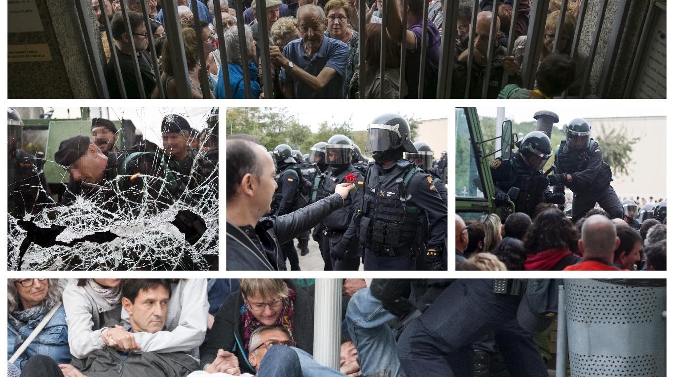 Cientos de heridos son el resulado de violenta represión en referéndum en Cataluña