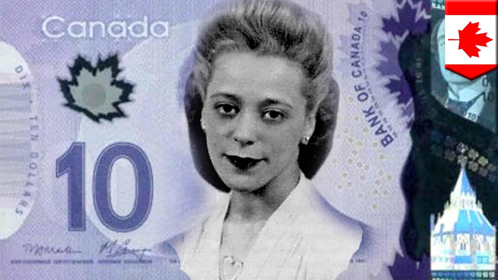Revelan el primer billete  donde aparece una mujer canadiense