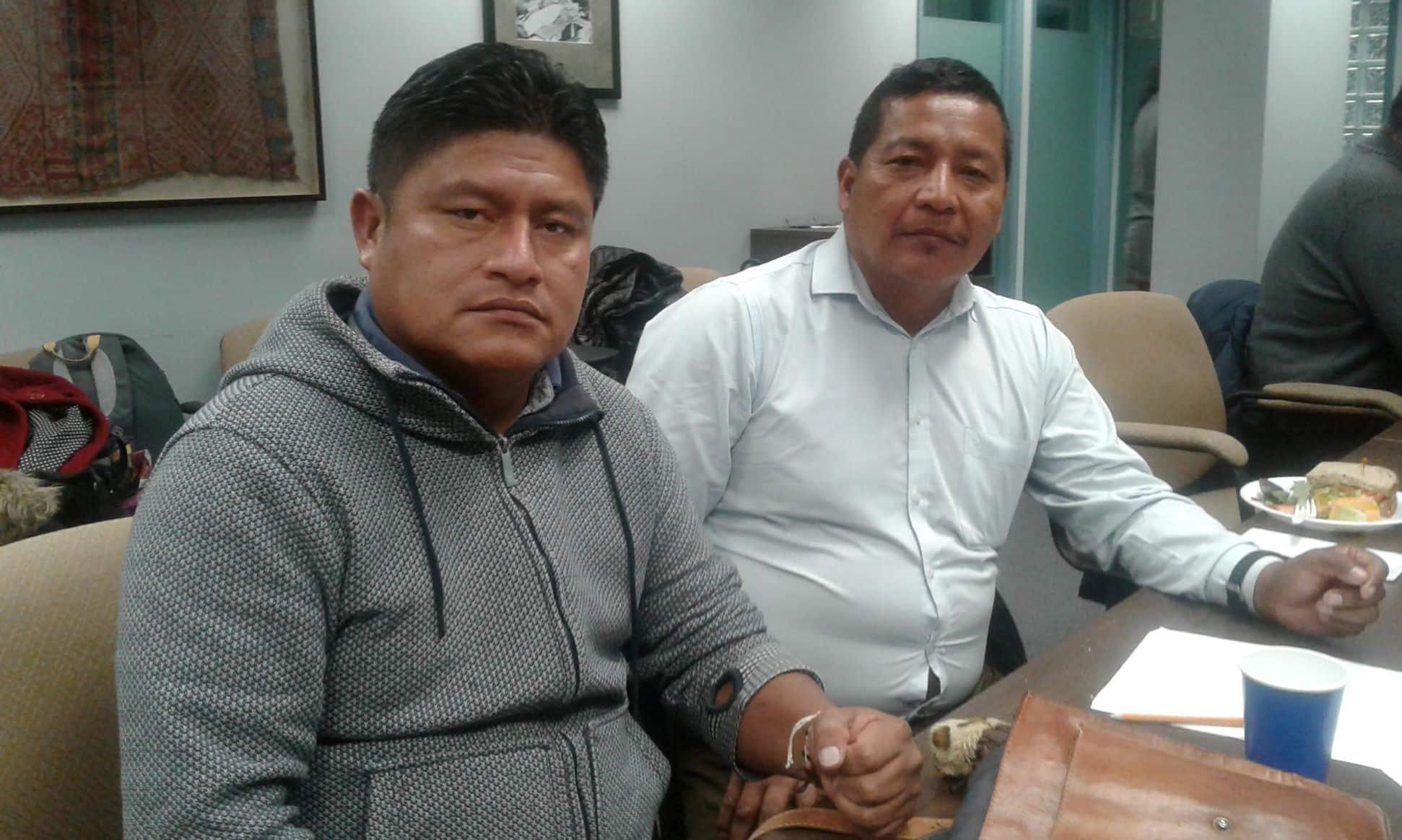 Líderes de la Unión de Personas Afectadas por Chevron-Texaco en Ecuador visitan Canadá