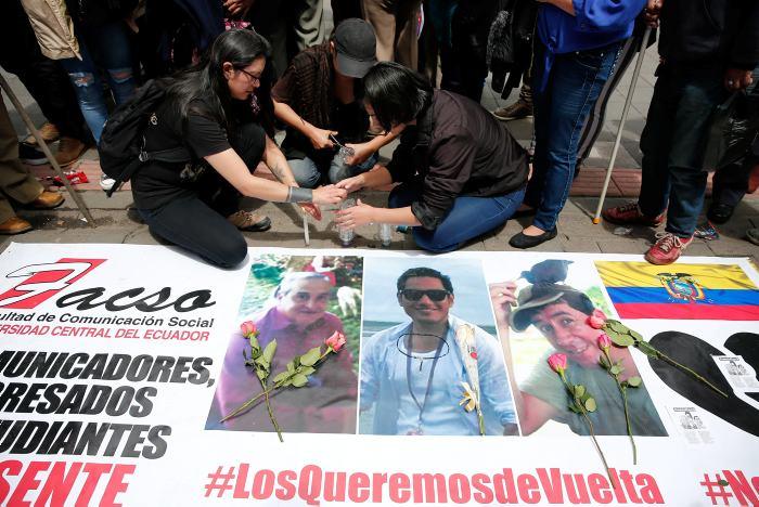 8 detenidos como sospechosos de participar en asesinato de los 3 ecuatorianos secuestrados