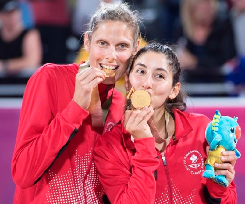 Dupla de Volley playa canadiense logra oro en Juegos de la Commonwealth