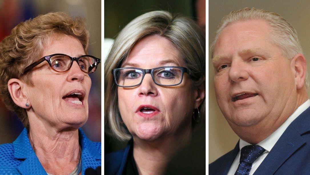 Líderes de los partidos mayoritarios de Ontario se enfrentan en su primer debate televisado