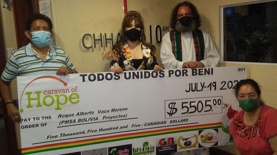CHHA 1610am se sumó a La Caravana de la Esperanza para apoyar a Beni